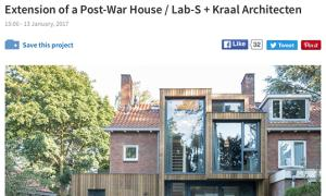 Lab-S Fraaie publicatie in Archdaily